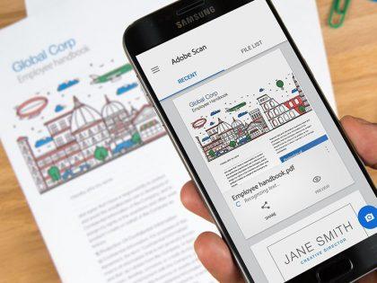 Adobe'un yeni PDF uygulaması: Adobe Scan